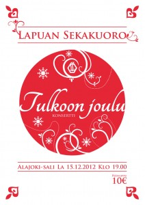 Lapuan Sekakuoro Tulkoon joulu konsertti